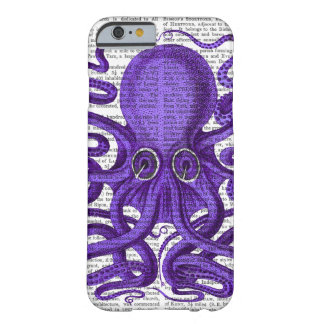 Purple Octopus Barely There iPhone 6 Case