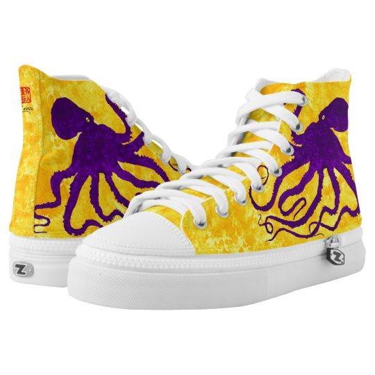 Purple Octopus  - High Top Sneakers