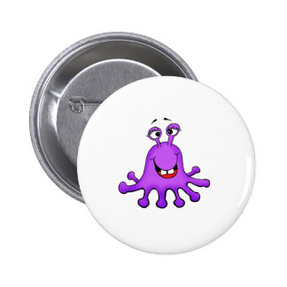 Purple Octopus Monster by Send2smiles 6 Cm Round Badge