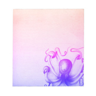 Purple Octopus Ombre Steampunk Sea Travel Notepad