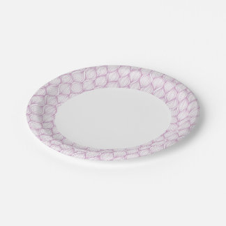 Purple ogee stripes pattern background 7 inch paper plate