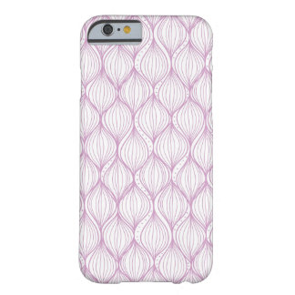 Purple ogee stripes pattern background barely there iPhone 6 case