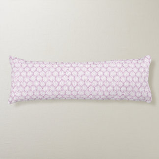Purple ogee stripes pattern background body cushion
