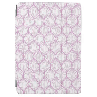 Purple ogee stripes pattern background iPad air cover