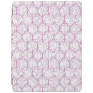 Purple ogee stripes pattern background iPad cover