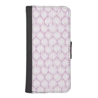 Purple ogee stripes pattern background iPhone SE/5/5s wallet case