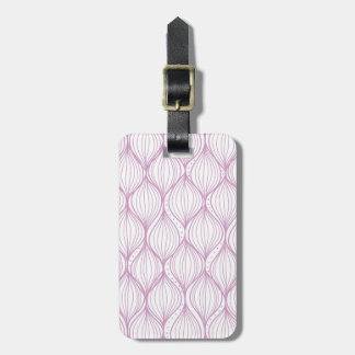 Purple ogee stripes pattern background luggage tag