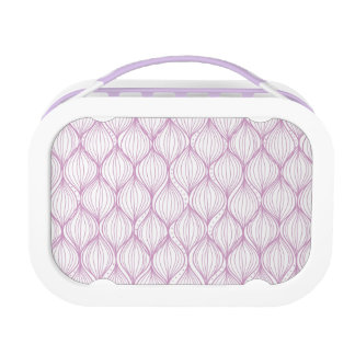 Purple ogee stripes pattern background lunch box