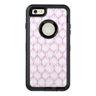 Purple ogee stripes pattern background OtterBox iPhone 6/6s plus case