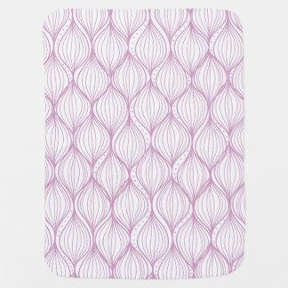 Purple ogee stripes pattern background receiving blankets
