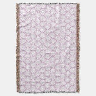 Purple ogee stripes pattern background throw blanket