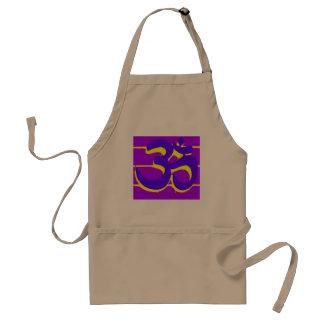 purple om apron