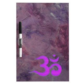 Purple Om Dry Erase Board