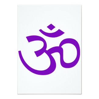 "Purple Om or Aum ॐ.png 5"" X 7"" Invitation Card"