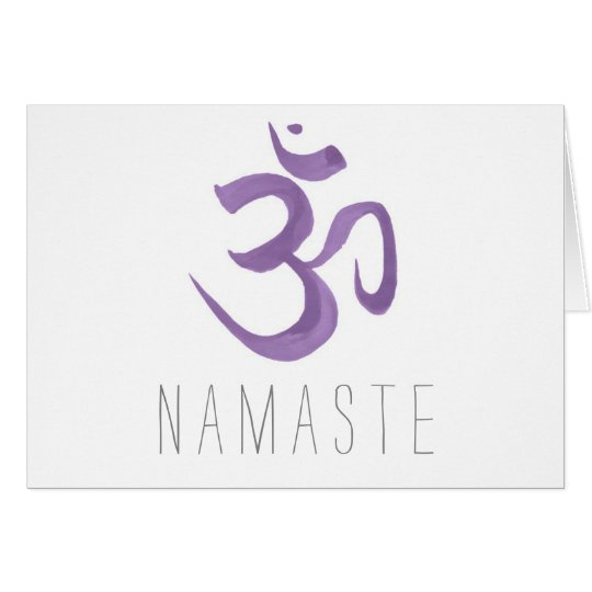 Purple Om Symbol Namaste Card