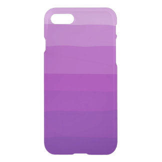Purple Ombre Clear iPhone Case