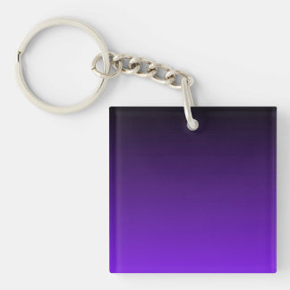 Purple Ombre Double-Sided Square Acrylic Key Ring