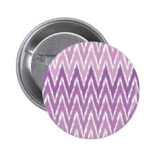 Purple Ombre Ikat Chevron Zig Zag Stripes Pattern 6 Cm Round Badge