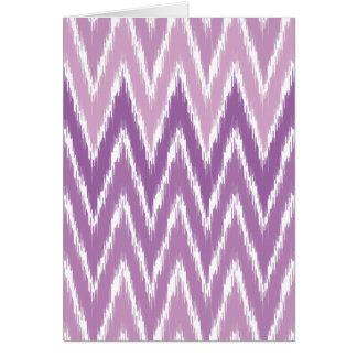 Purple Ombre Ikat Chevron Zig Zag Stripes Pattern Cards