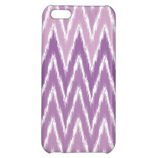 Purple Ombre Ikat Chevron Zig Zag Stripes Pattern iPhone 5C Covers