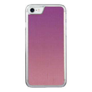 Purple Ombre Maple Wood Carved iPhone 8/7 Case