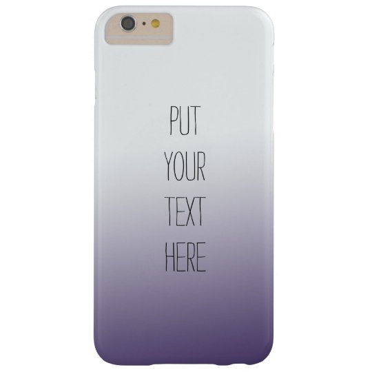 Purple Ombre Personalised with Your text Barely There iPhone 6 Plus Case