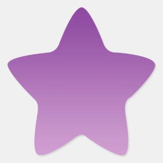 Purple Ombre Star Sticker