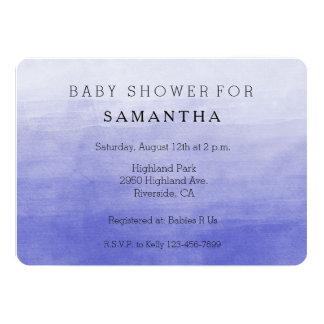 Purple Ombre Watercolor baby shower 13 Cm X 18 Cm Invitation Card