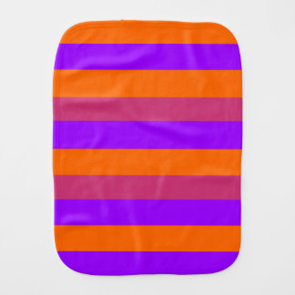 Purple, Orange and Pink  Stripes Burp Cloth
