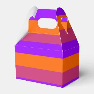 Purple, Orange and Pink  Stripes Favour Box