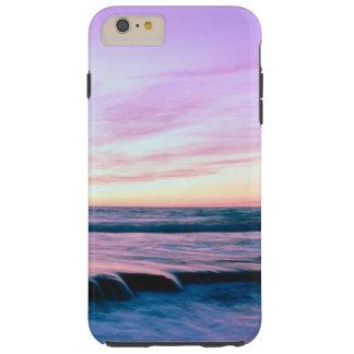 Purple Orange Beach Sunset Waterfalls Tough iPhone 6 Plus Case