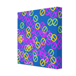 Purple Orange Circle Symbol Green Pattern Canvas Canvas Print
