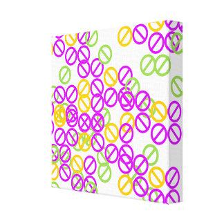 Purple Orange Circle Symbol Mix Pattern Canvas Canvas Print