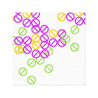 Purple Orange Circle Symbol Pattern Print Canvas