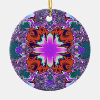 purple orange round ceramic decoration