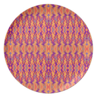 Purple Orange Flames Abstract Plate