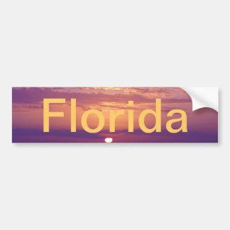 Purple Orange Florida Sunset Bumper Sticker