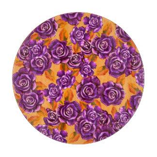 Purple Orange Flower Cutting Board