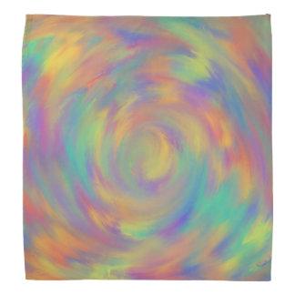 Purple Orange Optical Illusion Spiral Abstract Art Bandana
