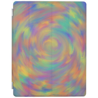 Purple Orange Optical Illusion Spiral Abstract Art iPad Cover