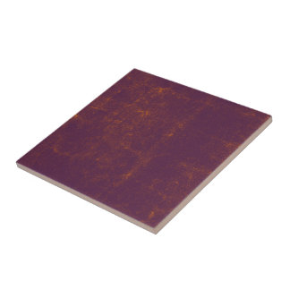 Purple Orange Textured Grunge Pattern Tile