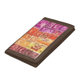 Purple Orange Wallet, Sunset Landscape, Travel Art Tri-fold Wallet