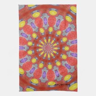 Purple Orange Yellow Abstract Pattern Kitchen Towe Tea Towels