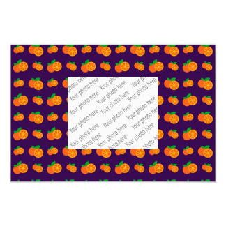 Purple oranges pattern photo