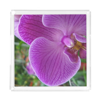 Purple Orchid Acrylic Tray