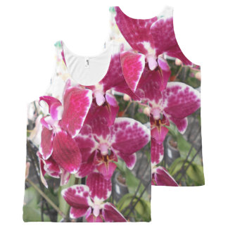 Purple Orchid All-Over Print Tank Top