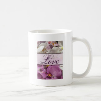 Purple Orchid explosion with love Basic White Mug