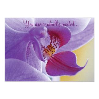 Purple Orchid Invite