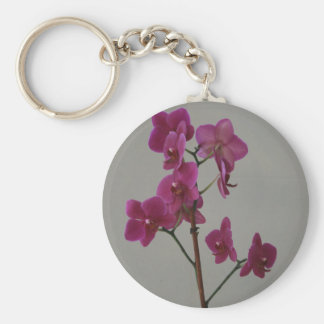 Purple Orchid Key Chain