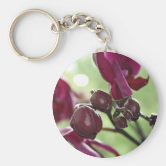 Purple orchid key ring